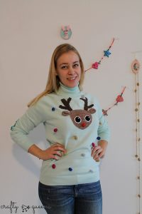 Carmen Jorissen Ugly Christmas Sweater diy