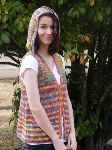 Hoodie Vest Kim Guzman Guida per principianti dell'uncinetto tunisino