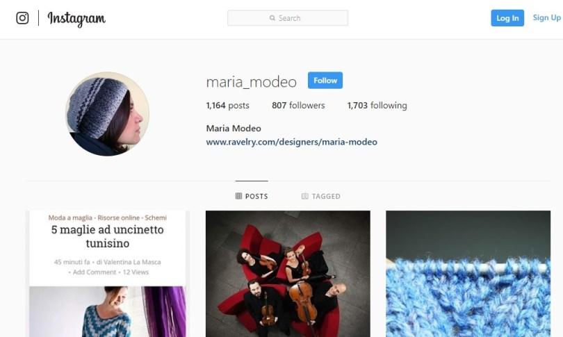 Dall'account Instagram di Maria Modeo