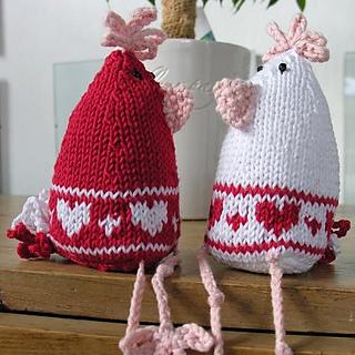 galline a maglia san valentino