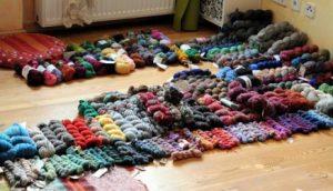 organizzare la ascorta di lana