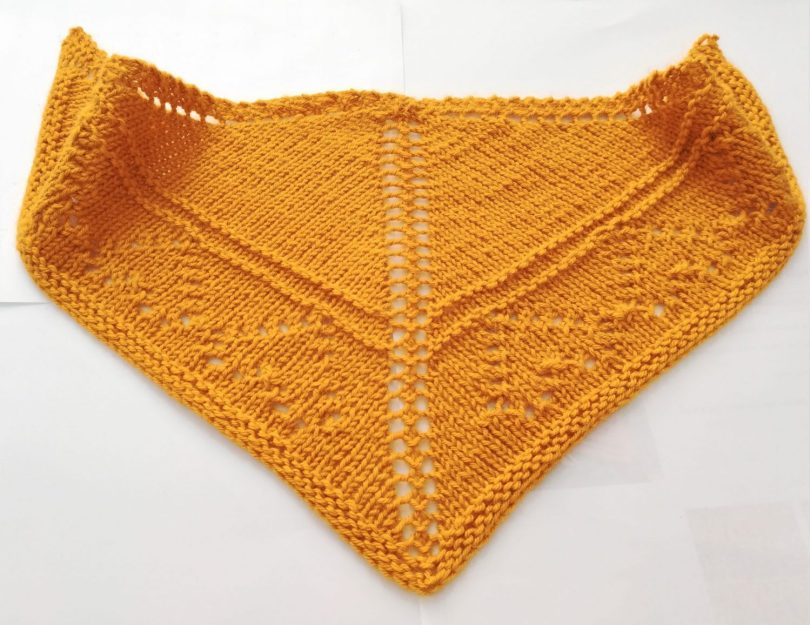 Scialle top down a maglia