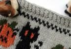 Collo di halloween a maglia
