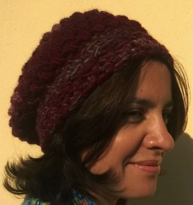 cappello all'uncinetto in filato bulky