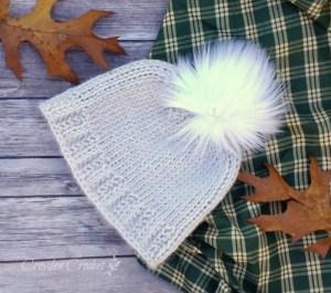 Easy Tunisian Beanie di Croyden Crochet cappelli lavorati in piano