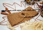Tunisian Honeycomb Earwarmer Headband Briana K Designs fasce