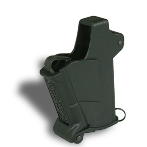 "<span class=""stronger"">BabyUpLULA®</span> – .22LR to .380ACP* loader for single-stack pistol mags without a projecting side button"
