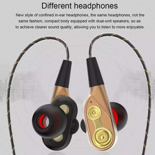 Écouteurs à double bass