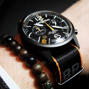 Bell & Ross BR 126 Carbon Orange - Copyright @Bellrosswatches