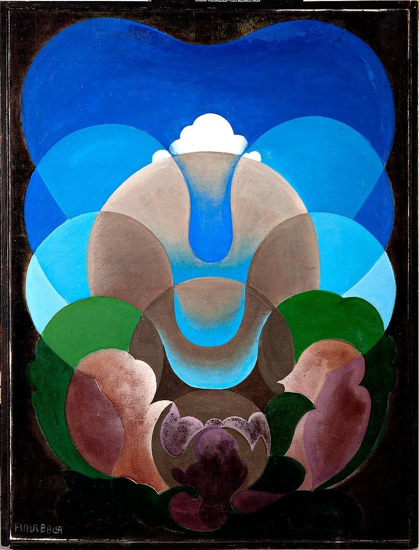 Giacomo Balla - Sorge l'idea, 1920 olio su tela