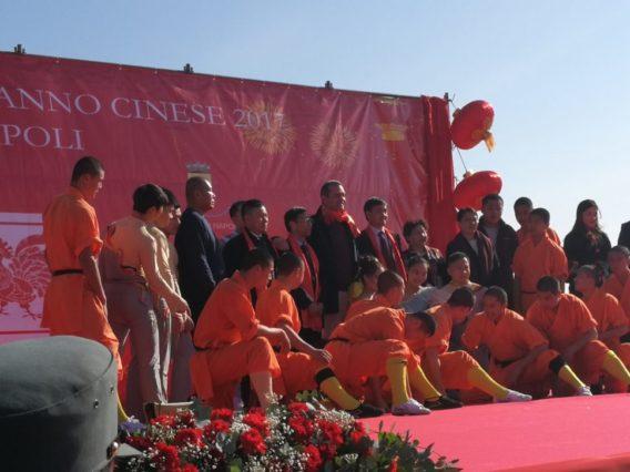Capodanno Cinese alla Rotonda Diaz con TUHE  e il Comune di Napoli [video]