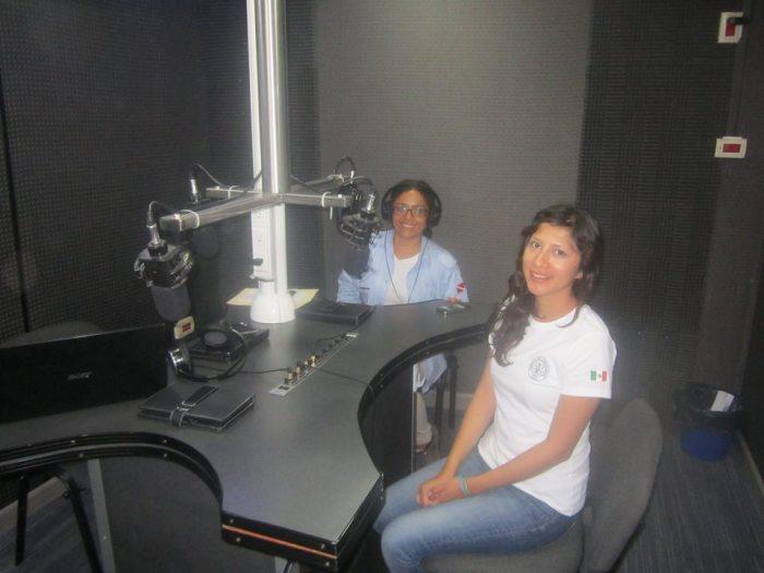Arqueólogas Iris Hernández Bautista y Pamela Lara Tufiño de la subdirección de Arqueología Subacuática del INAH.