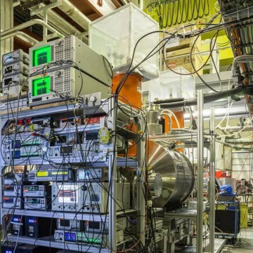 Imagen del experimento BASE en el desacelerador de antiprotones del CERN en Ginebra. (Foto: Stefan Sellner, Fundamental Symmetries Laboratory, RIKEN, Japón)