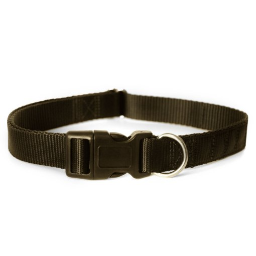 Black magnetic dog collar by Canine Magnetix