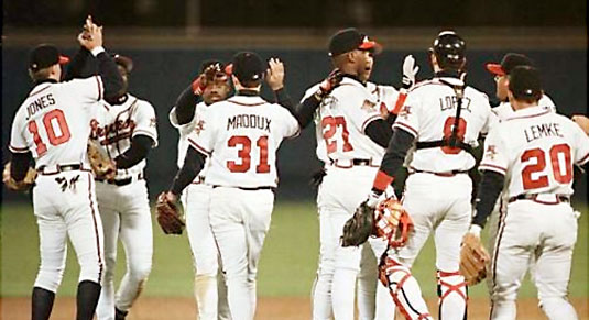 Image result for the 1990's atlanta braves