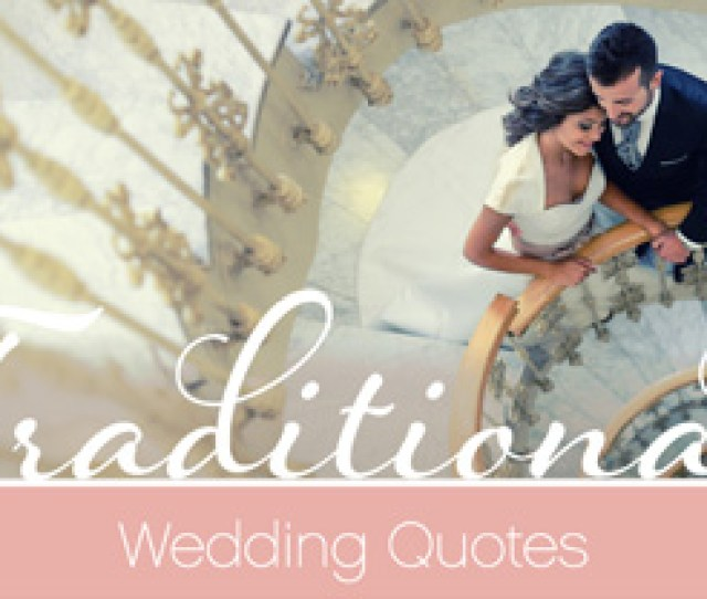 Traditional Wedding Quotes