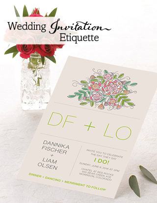 Inviting Guests The Wedding Invitation