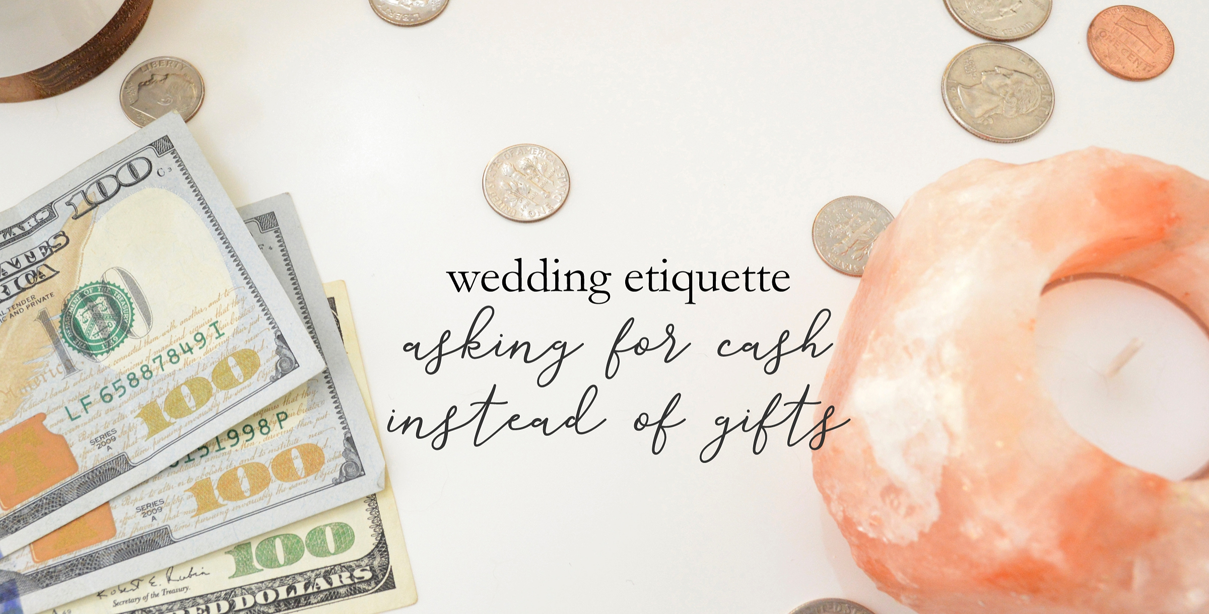asking for cash instead of wedding