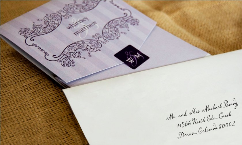 Hand Cancelled Wedding Invitation Suite