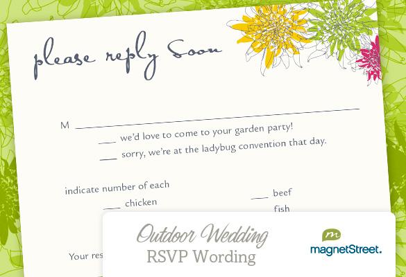 Wedding Invitation Wording Rsvp Email Sle