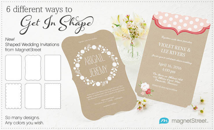 Shaped Wedding Invitations From MagnetStreetShaped Wedding Invitations From MagnetStreet