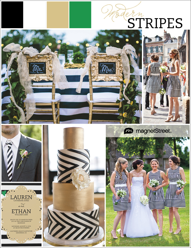 Modern Striped Wedding Invitations And Inspiration Get A Free Sle In Your Colors