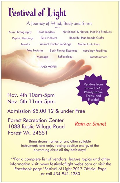 Festival of Light New Age Metaphysical Expo Event Virginia