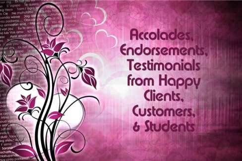 Testimonials Endorsements Takara