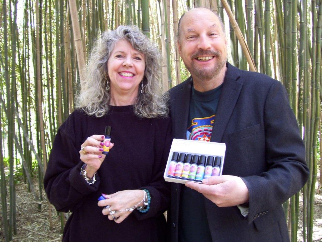 Takara with sound healing pioneer, Jonathan Goldman