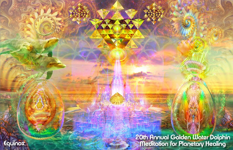 Golden Water Dolphin Meditation for Planetary Healing