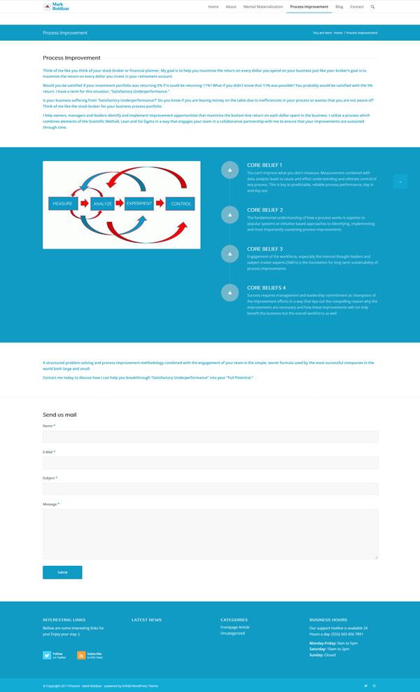 Website Design Sample Mark Boldizar