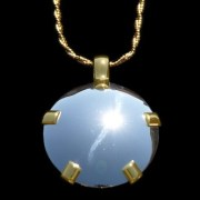 BioElectric Shield Sterling Silver with 14K Gold Tab Polished Finish