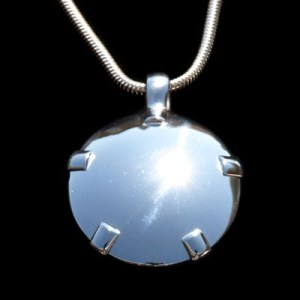 BioElectric Shield Sterling Silver with Silver Tabs Polished Finish EMF Protection