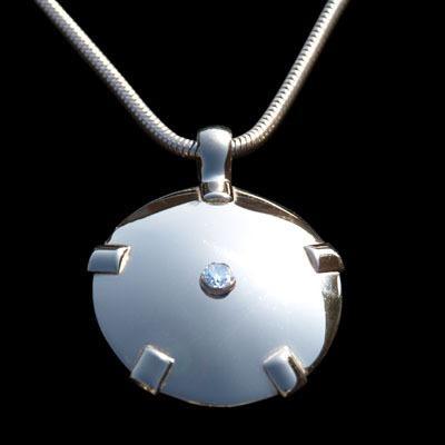 BioElectric Shield 14K White Gold with Diamond