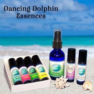 Dancing Dolphin Flower Essences, Gem Essences, Dolphin Healing Energy, Sacred Sound, Aromatherapy