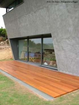 Esterno per giardini in legno balau