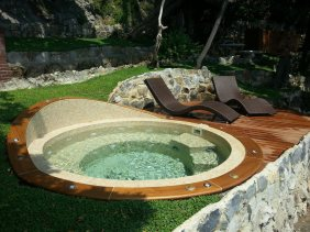 Bordo per Jacuzzi in teak