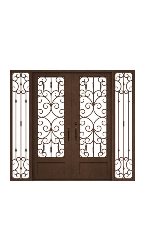 SQUARE TOP DOUBLE DOOR WITH SIDELIGHTS