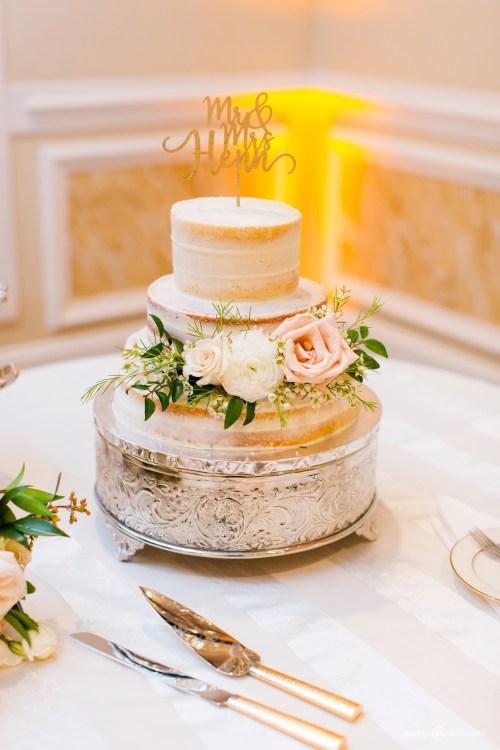 Naked Flower Wedding Cake