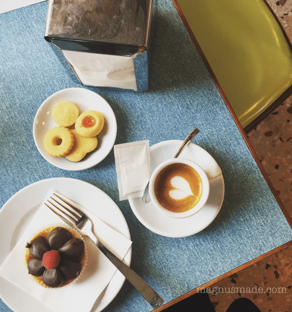 MILAN: A pastel cafe and contemporary art