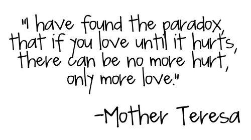 role model of mother teresa