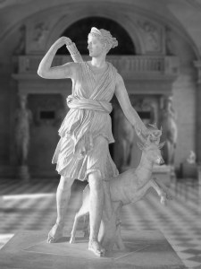 Diana with stag. Second century. Photo Eric Gaba/Wikimedia Commons.