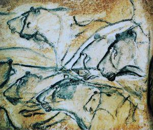 HMR Lions_painting,_Chauvet_Cave_(museum_replica)