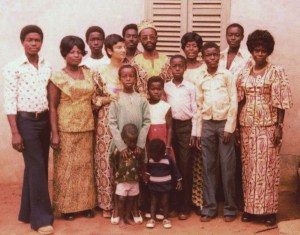 Louisa Calio with Ghana family hosts2