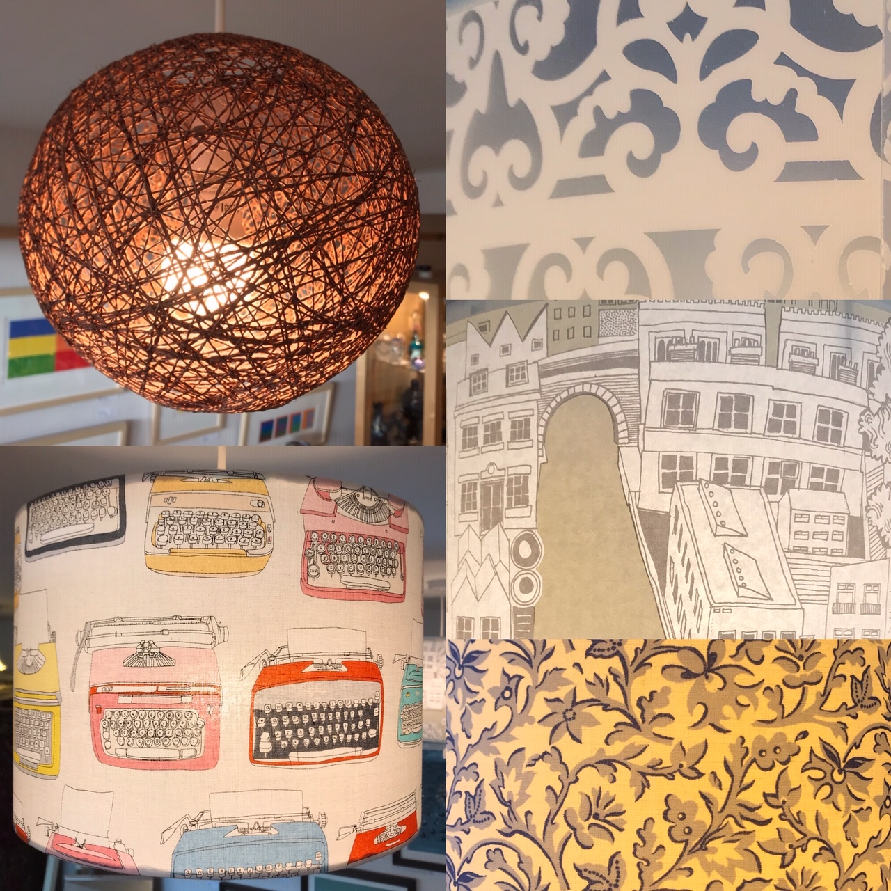 Lamps lampshades lights
