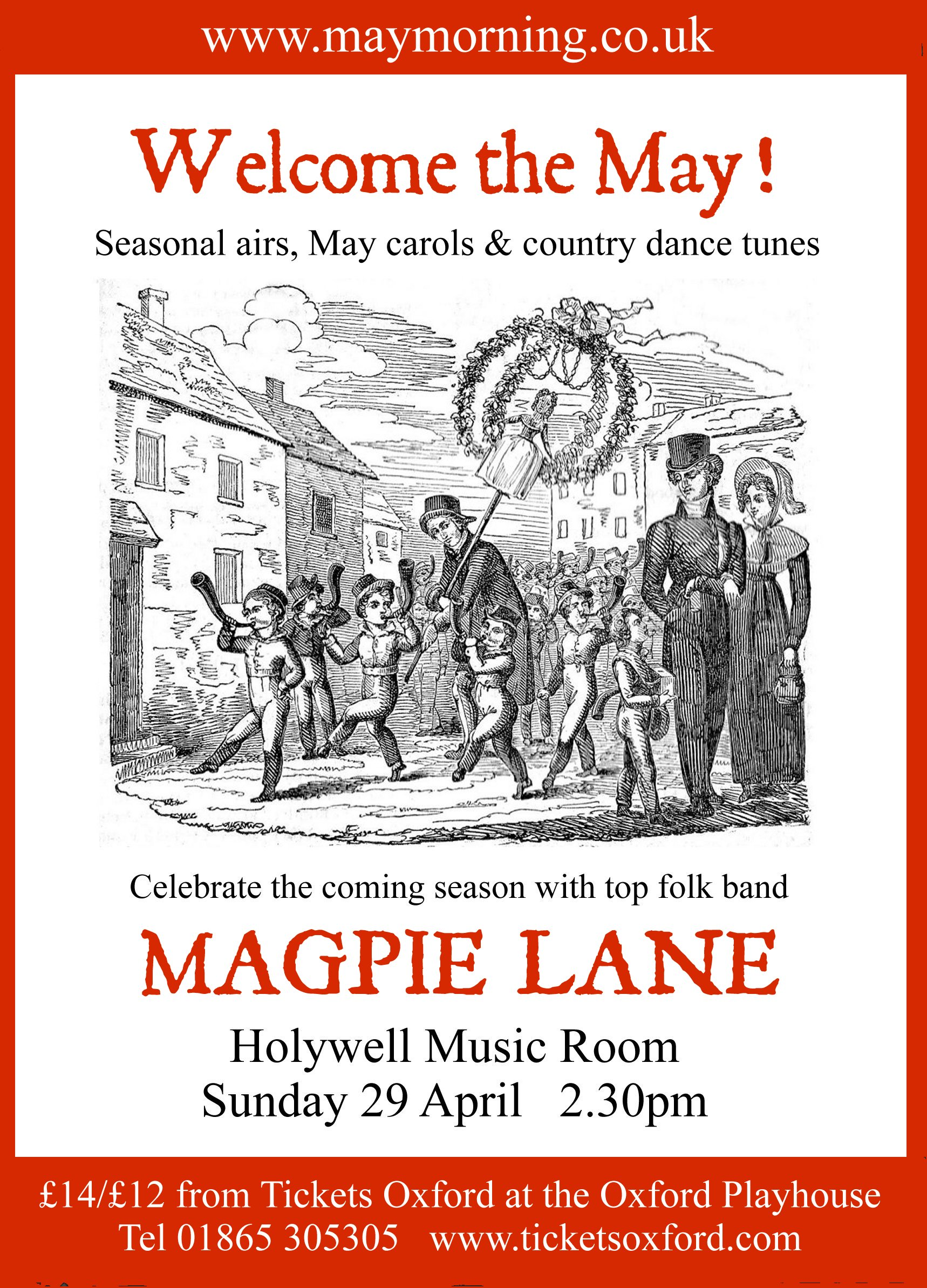 Welcome the May concert poster