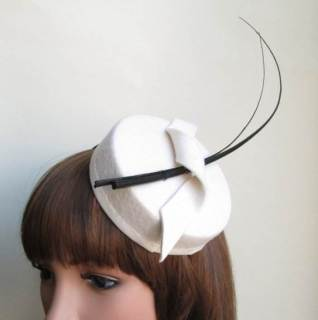 Etsy Vintage wedding hat as seen in the Unique Bride Journal