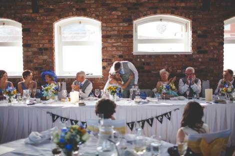 An elegant 1920s vintage style wedding with blue touches as featured on The National Vintage Wedding Fair blog