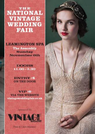 Leamington Spa National Vintage Wedding Fair poster