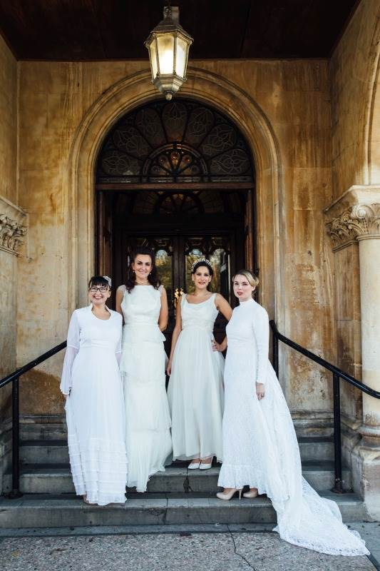 Chiswick London National Vintage Wedding Fair photos by Matilda Delves featuring vintage wedding dresses